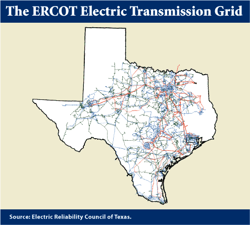 Texas wind generation output tops 17,000 MW in ERCOT region