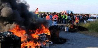 French oil workers, pilots strike, France seeks way out of crisis