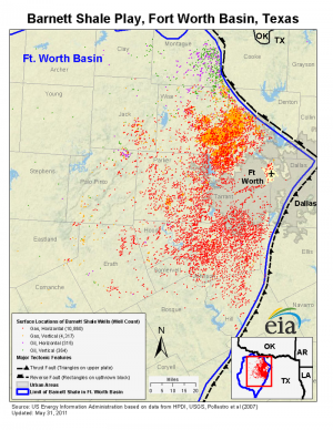 Producing Wells In The Barnett Shale Graphic Us Energy Information Administration