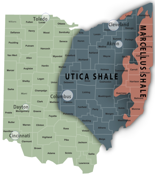 Utica Shale Natural Gas Production Rises Again In Q The - Utica shale map