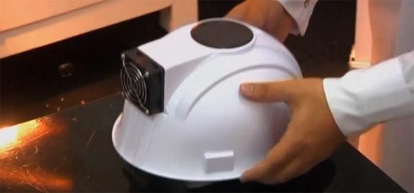 Solar powered hard hats