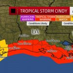 Tropical Storm Cindy threatens to hit oil refining, production centres